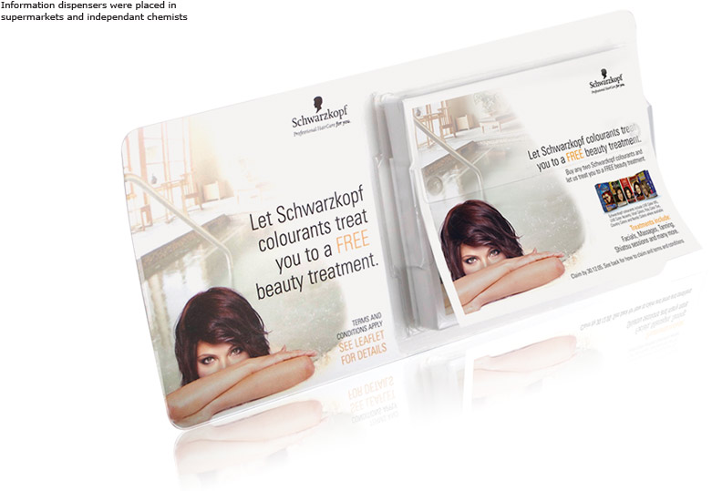 Schwarzkopf Spa Offer POS leafletDispenser